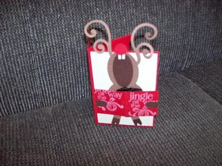 Reindeer gift card holder